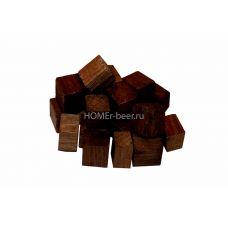Дубовые кубики сильной обжарки 100 г (Кавказский скальный)