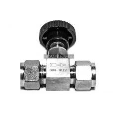 Нержавеющий обжимной кран игольчатый 12 мм
