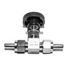 Нержавеющий кран игольчатый 8 мм (под приварку или трубку)