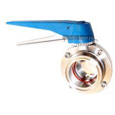 Кран бабочка кламп 2 дюйма с фиксатором и плавной регулировкой