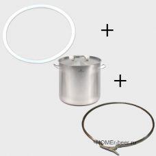 Перегонный куб люкссталь-Лайт 12 (котел + обруч + прокладка)